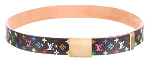 Louis Vuitton Black Multicolore LV Monogram leather Louis Vuitton waist belt
