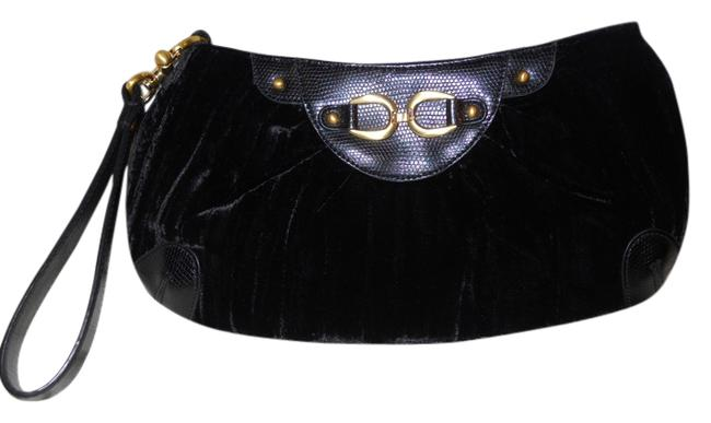 Adrianna Papell Clutch Black Man Made Wristlet Adrianna Papell Clutch Black Man Made Wristlet Image 1