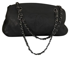 Chanel Bowler Style Caviar Leather Hobo Bag