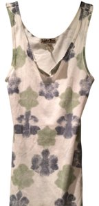 Lucky Brand New Top White with Blue & Green
