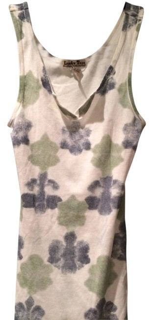 Lucky Brand Top White with Blue & Green