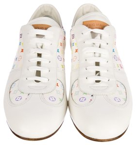 Louis Vuitton Pink White Leather White, Multicolor Athletic