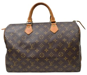 Louis Vuitton Speedy Tote Pvc Monogram Neverful Mm Gm Houndstooth Satchel in Brown