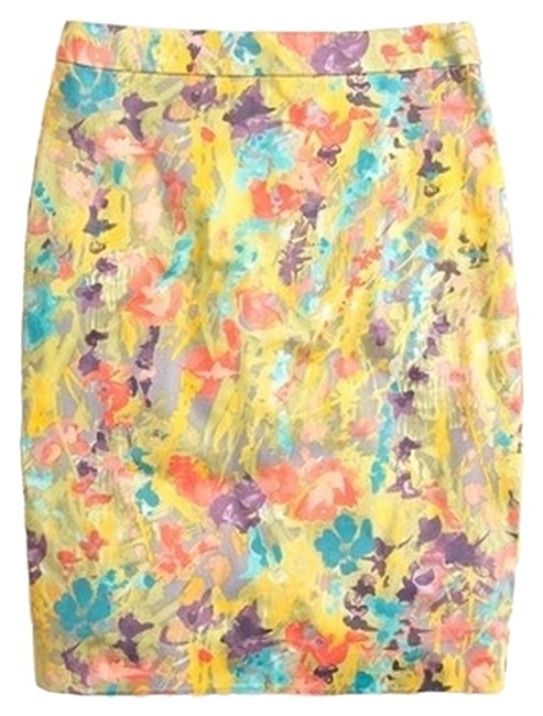 Preload https://img-static.tradesy.com/item/1133277/jcrew-yellow-pink-blue-purple-wisteria-multi-pencil-knee-length-skirt-size-0-xs-25-0-0-650-650.jpg