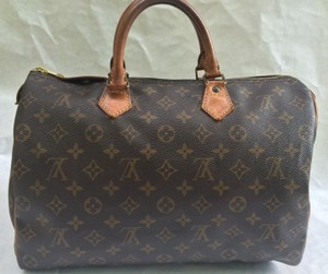 Louis Vuitton Neverfull Speedy 35 Satchel in Brown