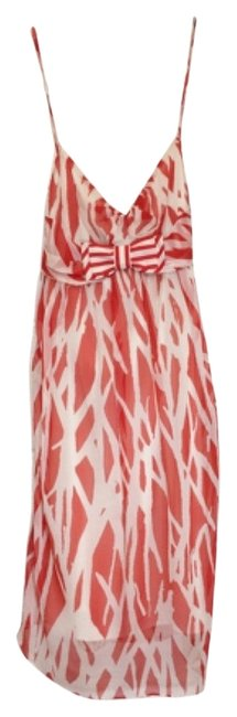 Diane von Furstenberg Silk Print Orange White Dress Image 0