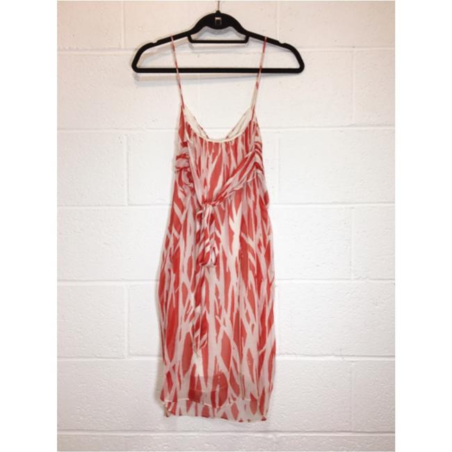 Diane von Furstenberg Silk Print Orange White Dress Image 1