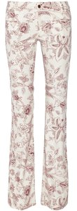 Isabel Marant Paisley Floral Flared Boot Cut Jeans