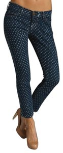 Current/Elliott Denim Polka Dot Blue Skinny Jeans