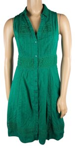 Maeve short dress Green Anthropologie Pockets Emerald on Tradesy