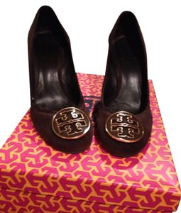 Tory Burch Cocoa Suede Wedges