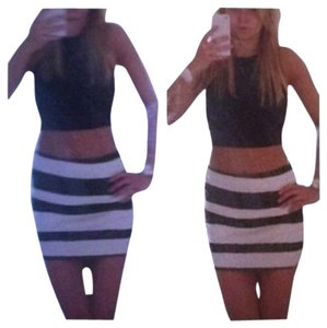 Nasty Gal Skirt Black And White