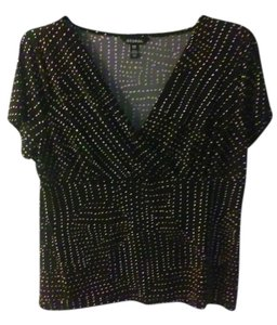 George Top Black with white specks