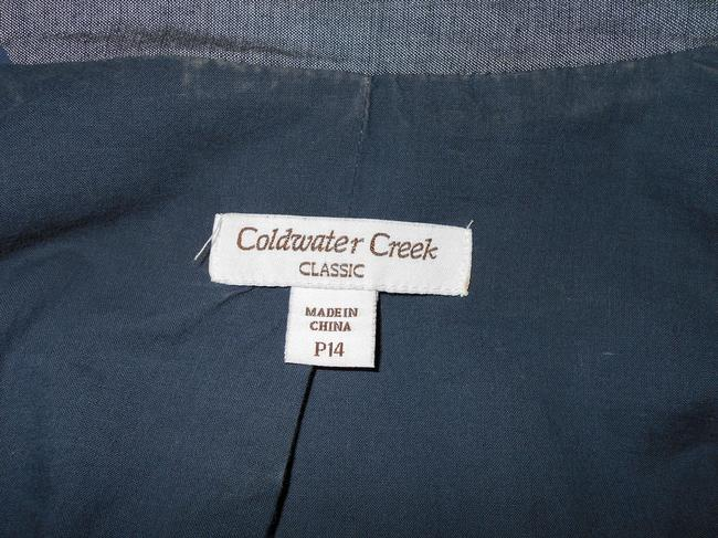Coldwater Creek Cambray Blazer Blue Jacket Image 2