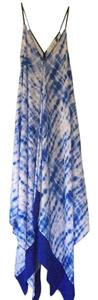White and Blue. Printed. Maxi Dress by T-Bags Los Angeles