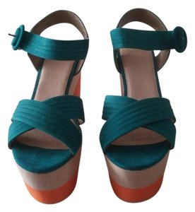 Shellys London Turquoise Platforms