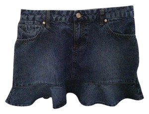 Xhilaration Indigo Mini Skirt Ruffle Denim Mini Skirt 13
