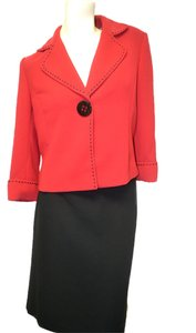 Elie Tahari Tahari Red & Black Skirt Suit Size 8