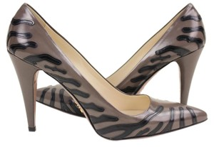 Prada Grey Zebra Pumps