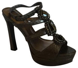 Pelle Moda Pewter New Snake Platforms