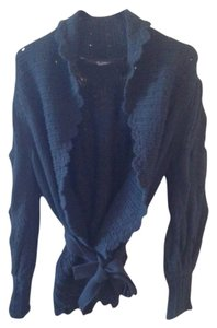 Colette Mordo Crochet Cotton Open Wrap Sweater