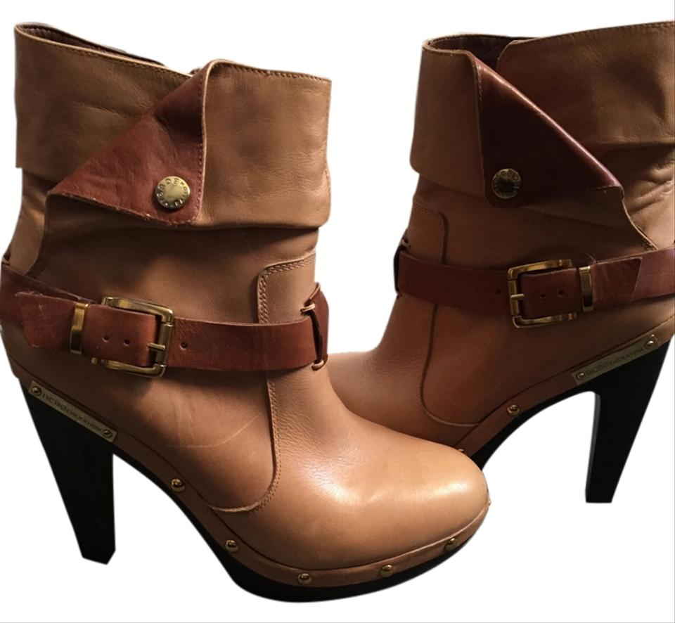 MISS BCBGeneration Beige/Brown Boots/Booties Easy Easy Easy 55f542