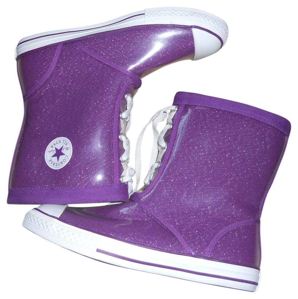 90bc78354bf6 Converse Purple Junior All Star Chuck Taylor Metallic Excellent Cond. 6)  Boots Booties