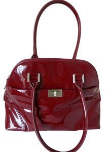 Talbots Leather Satchel in Red