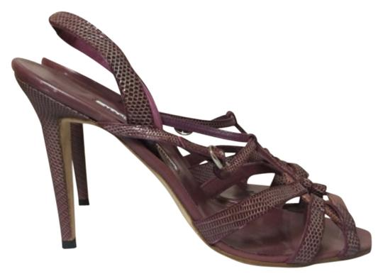 Manolo Blahnik Berry Sandals Image 1