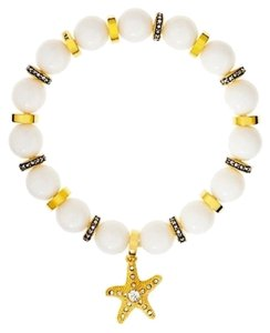Juicy Couture Stretch Beaded Bracelet w Starfish Charm, White YJRU6674 White