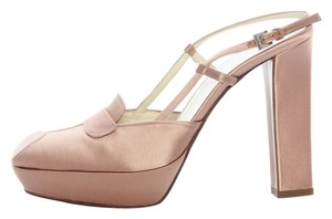Prada Pale Pink Satin New Pr.j0224.11 Pumps