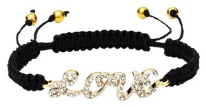 Juicy Couture Juicy Couture Pave 'LOVE' Friendship Bracelet YJRU7692 Blk