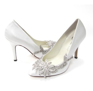 Vintage Bridal Blue Wedding Shoes