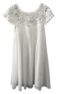 Double Zero short dress White New Without Tags on Tradesy