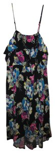 Xhilaration short dress Black floral on Tradesy