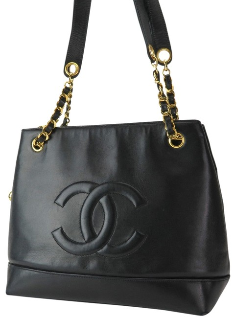 Chanel Tote Leather Lamb Skin Chain Shoulder Bag Chanel Tote Leather Lamb Skin Chain Shoulder Bag Image 1