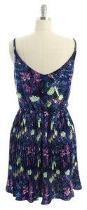 BB Dakota short dress purple, green Pleated Pretty Summer on Tradesy