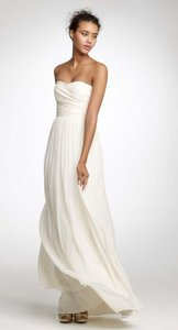 J.Crew Ivory Silk Chiffon Arabelle Destination Wedding Dress Size 12 (L)