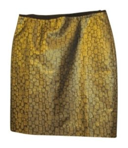 Ann Taylor LOFT Skirt Black and Gold