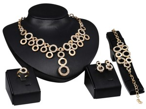 Other 18K Gold Plated Jewelry Set Circle Interlock 2016 Trend