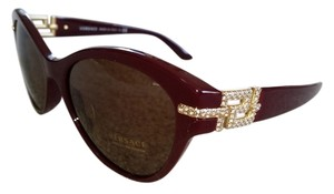 Versace Versace Maroon and Crystal Sunglasses w/Case