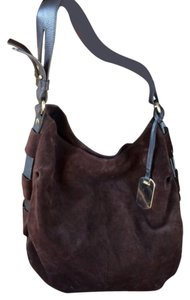 Furla Brown Suede Hobo Bag Shoulder Hobo Bag