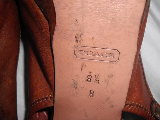 Coach Giana Leather Made In Italy Distressed Brown Pumps Image 6