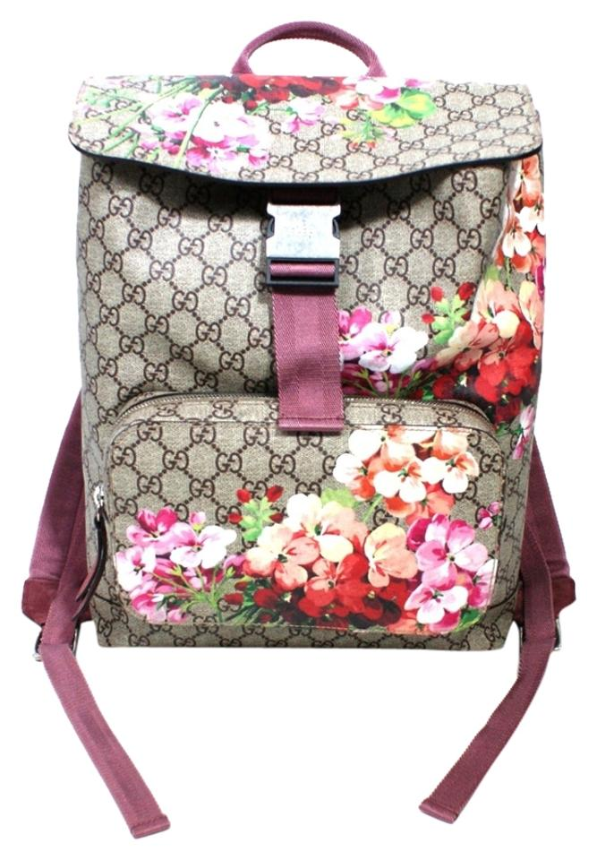 bba35f60e532 Gucci Gg Bloom Floral New Pink Canvas Backpack - Tradesy