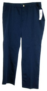 RALPH LAUREN GREEN LABEL Super Comfortable Flat Front Trouser Pants NAVY