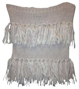 American Eagle Outfitters pink fringe neck warmer