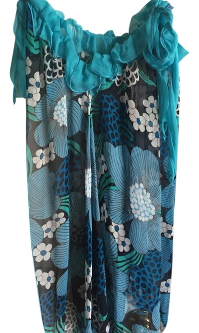 Nordstrom Black Blue and White For Swimsuit New with The Tags Cover-up/Sarong Size OS (One Size) Nordstrom Black Blue and White For Swimsuit New with The Tags Cover-up/Sarong Size OS (One Size) Image 1