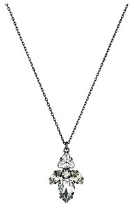 Juicy Couture Punk Rocks Pear Rhinestone Cluster Necklace Hematite YJRU6266