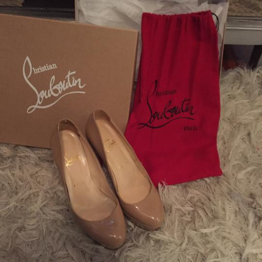 Christian Louboutin Nude patent leather Platforms Image 8