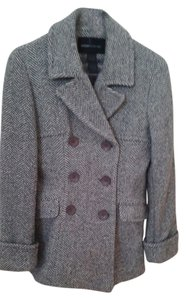 Moda International Jacket Gray Herringbone Blazer